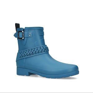 Hunter Biker Boot Rain Boot Blue